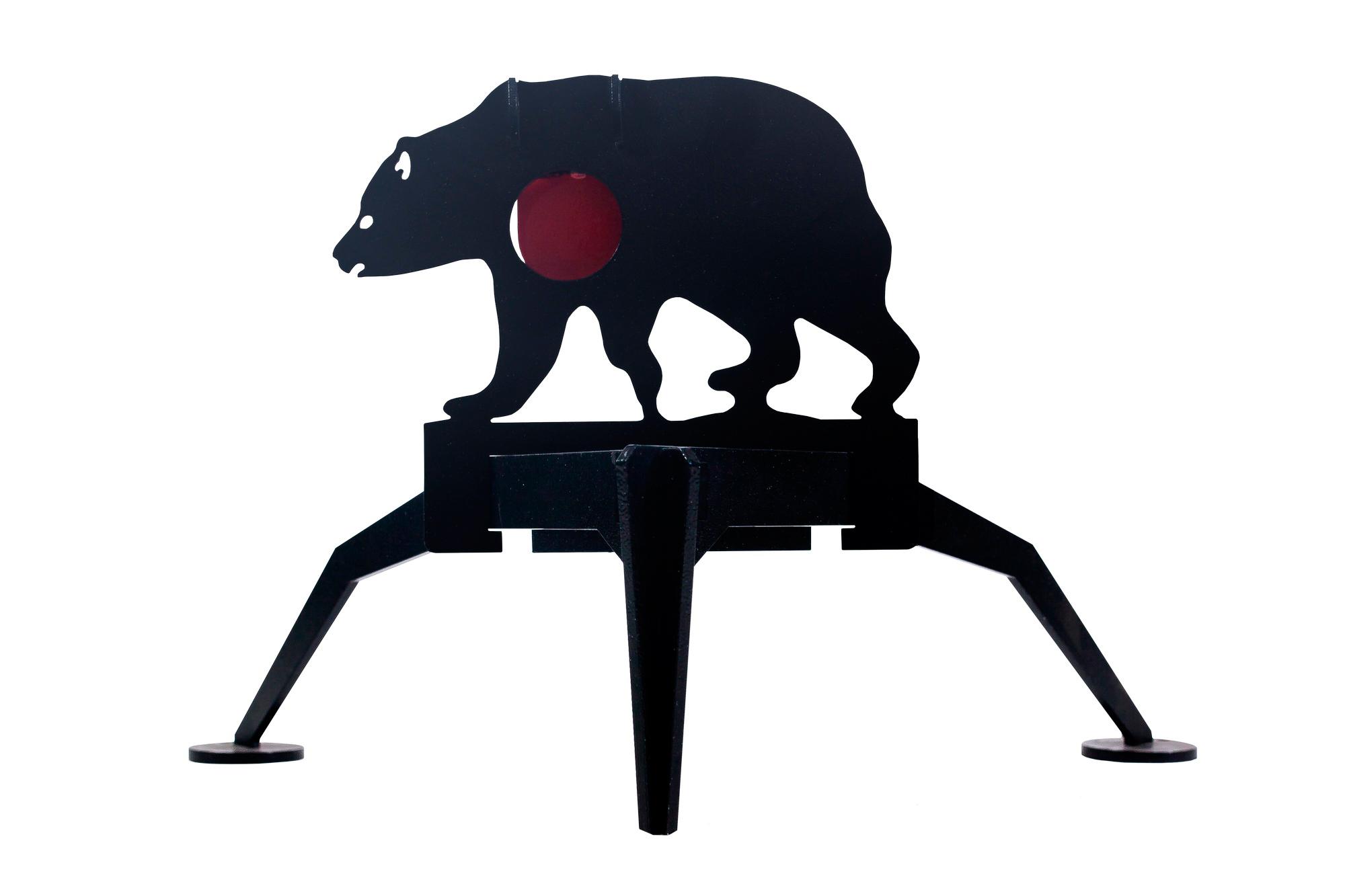 Мишень Медведь на треноге для мелкокалиберного 22LR или ПСП оружия (MMTM)