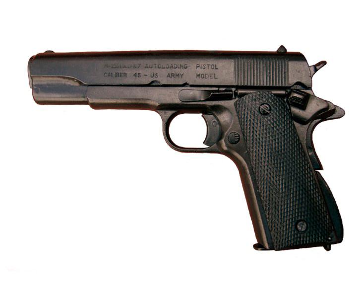 Макет пистолета от Denix Colt M1911 в масштабе 1:1