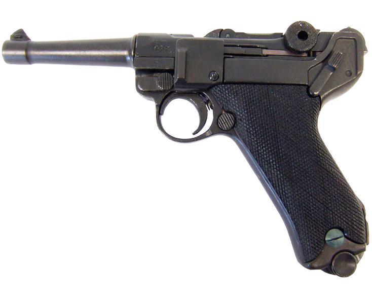 Макет пистолета от Denix Luger P08 пехотный в масштабе 1:1