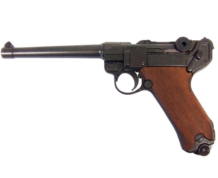 Макет пистолета от Denix Luger P08 в масштабе 1:1