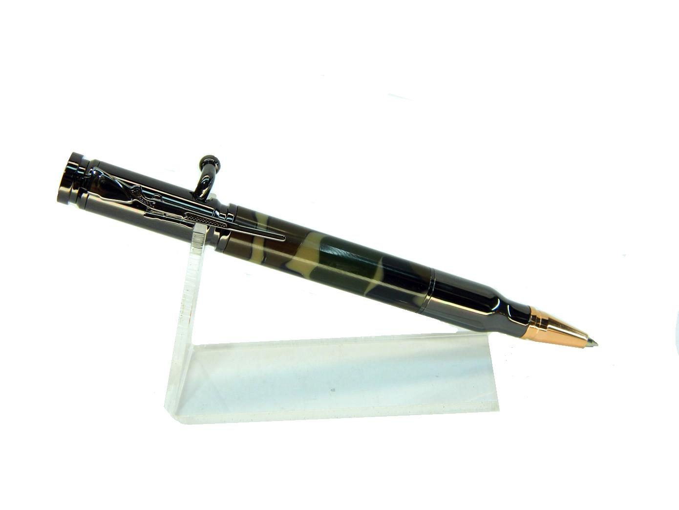 Тактическая ручка Bolt Action Pen Acrilic Black Chrome