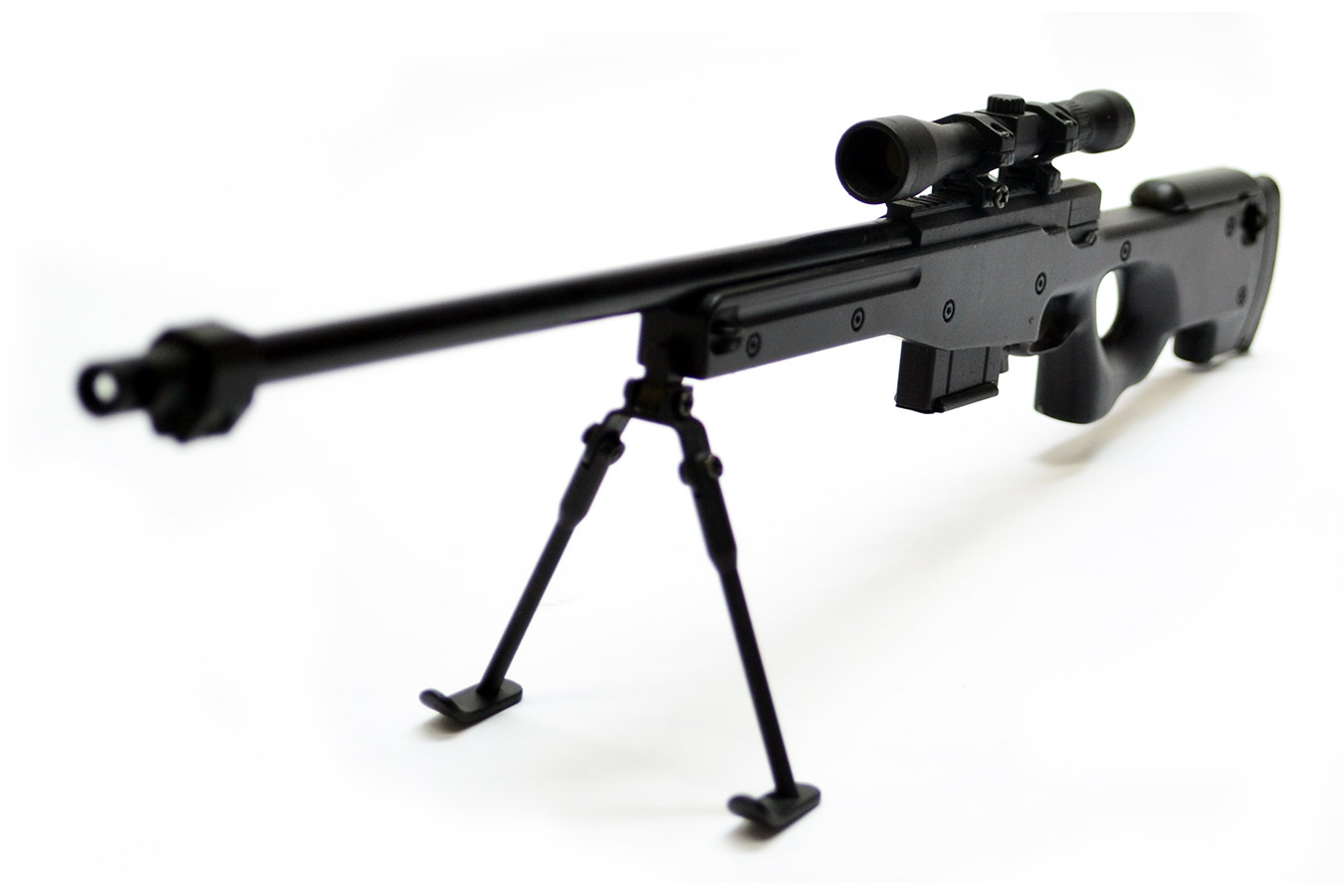 Макет снайперской винтовки Accuracy International L96A1 (AWP) в масштабе 1:3 черный