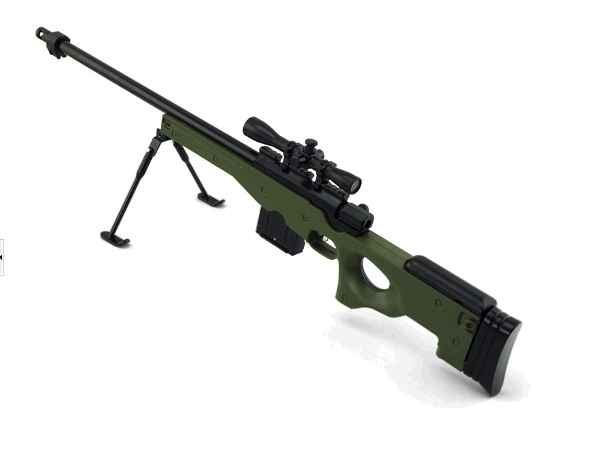 Макет снайперской винтовки Accuracy International L96A1 (AWP) в масштабе 1:3 хаки
