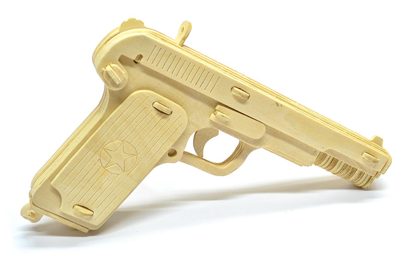 Деревянный макет пистолета Токарева ТТ