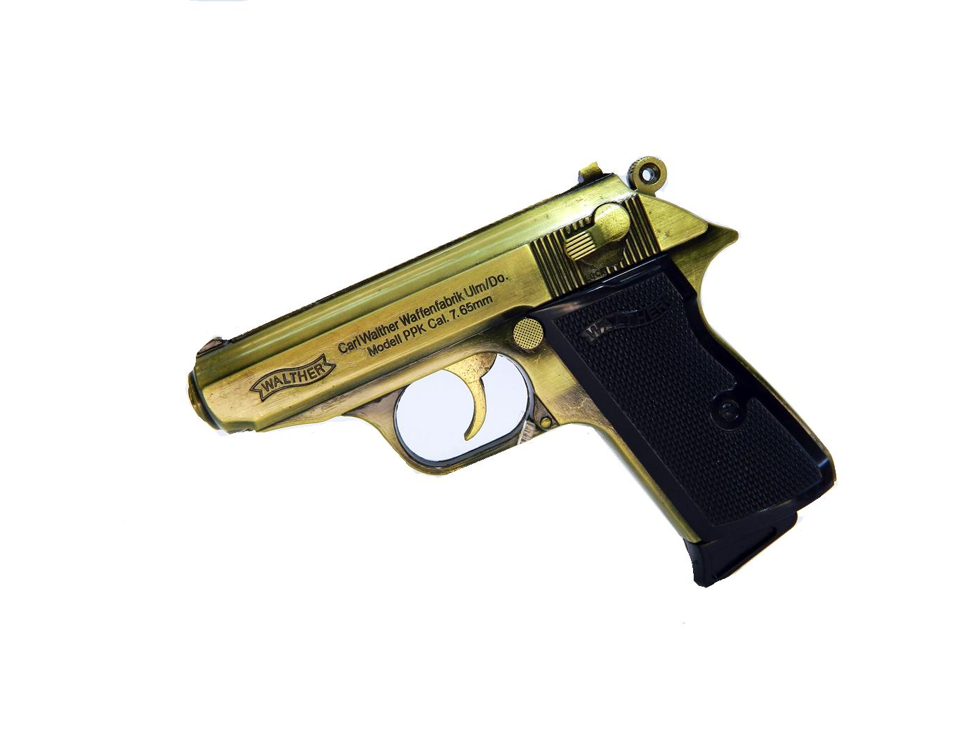 Зажигалка в виде пистолета Walther PPK/S