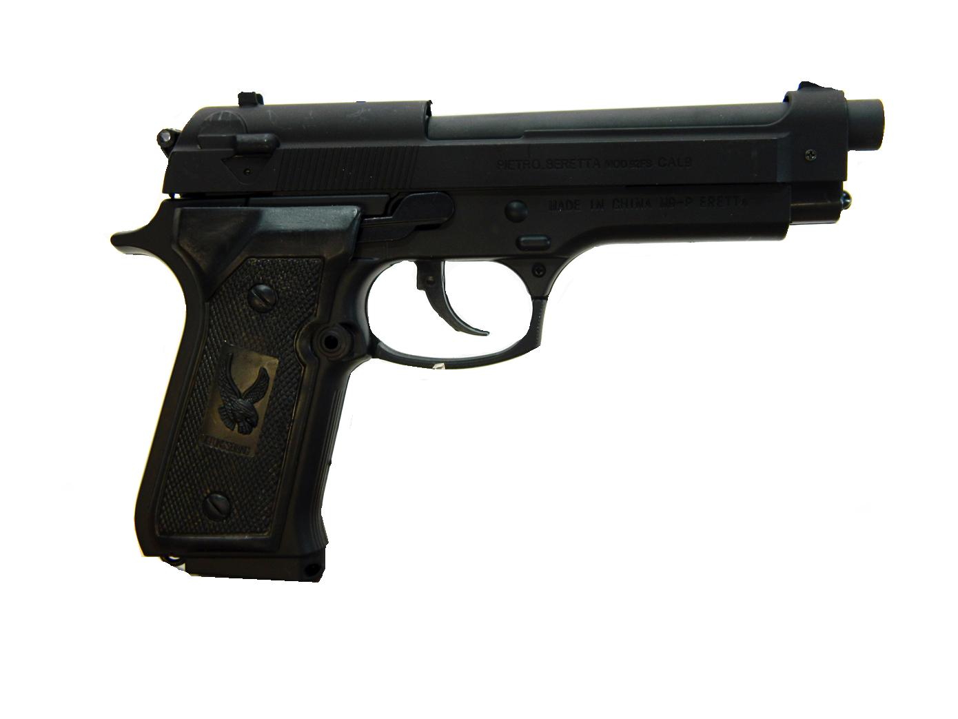 Зажигалка в виде пистолета Beretta F92 Black
