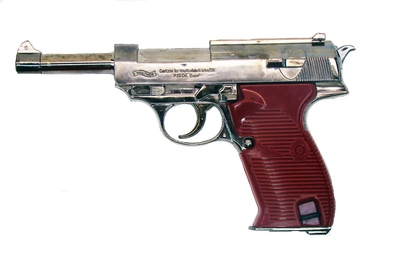 Зажигалка в виде пистолета Walther P38