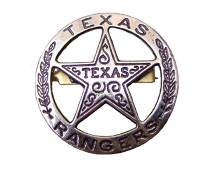 Бэйдж техасского рейнджера Denix circle star стальной DE-102